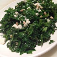 Organic kale salad
